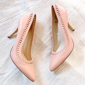 Nine West rose blush pumps pointed toe